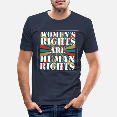 Human Rights Human Rights - Women's rights are human rights - Men's Slim Fit T-Shirt