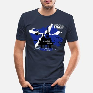 Oil Oil Rig Oil Field North Sea Tiger Aberdeen - Men's Slim Fit T-Shirt