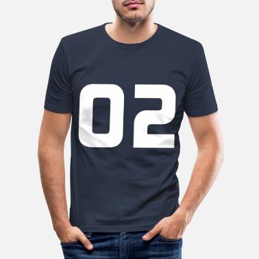 Jersey Number Jersey number 2 - Jersey number 2 - Men's Slim Fit T-Shirt