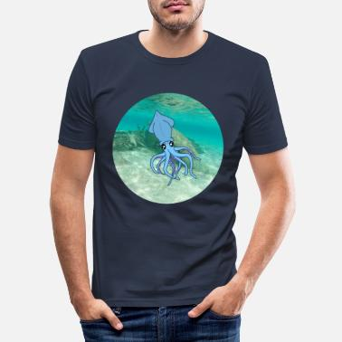 Under Water calamari under water - Men's Slim Fit T-Shirt