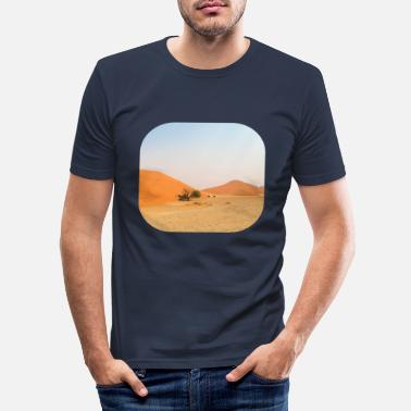 Steppe Desert steppe photography - Men's Slim Fit T-Shirt