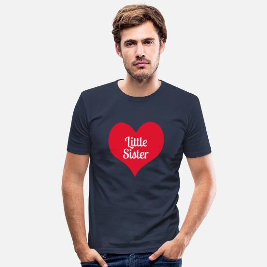 Siblings T-Shirts - little sister - Men's Slim Fit T-Shirt navy