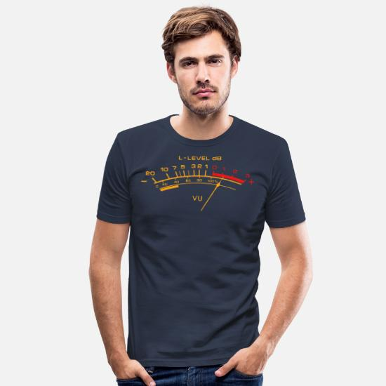Vu T-Shirts - vu meter shirt - Men's Slim Fit T-Shirt navy