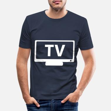 Tv TV TV - Men's Slim Fit T-Shirt