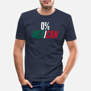 Sénior 0% Mexicain Funny Cinco De Mayo Mexico Fla - T-shirt moulant Homme