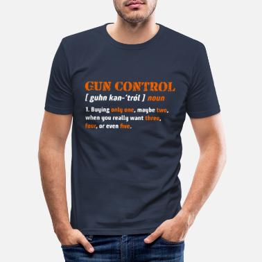 Pro Definition of gun control 2. Change of gun license - Men's Slim Fit T-Shirt