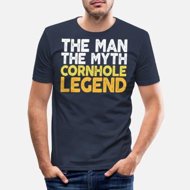 Bbq The Man The Myth The Cornhole Legend TShirt Bean - Men's Slim Fit T-Shirt