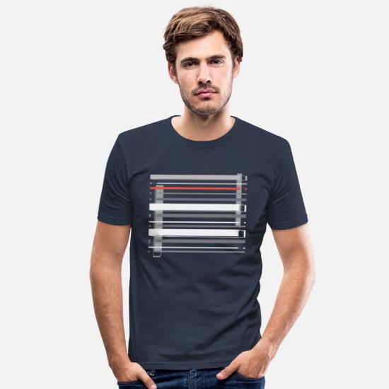 Stylish T-Shirts - Stylish Abstract One - Männer Slim Fit T-Shirt Navy