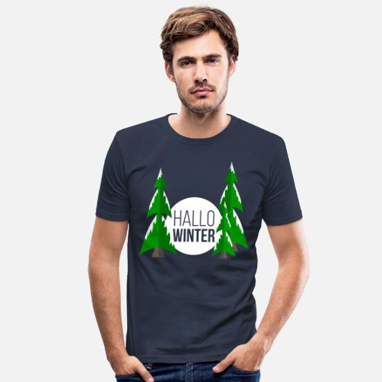 Winter T-Shirts - winter - Men's Slim Fit T-Shirt navy