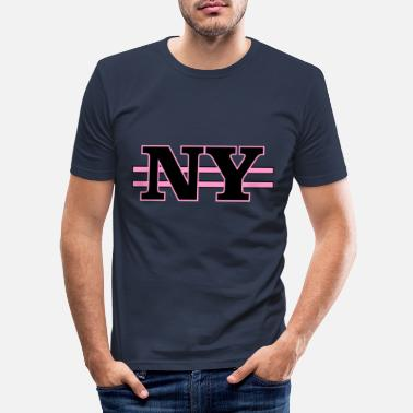 Ny NY - Männer Slim Fit T-Shirt