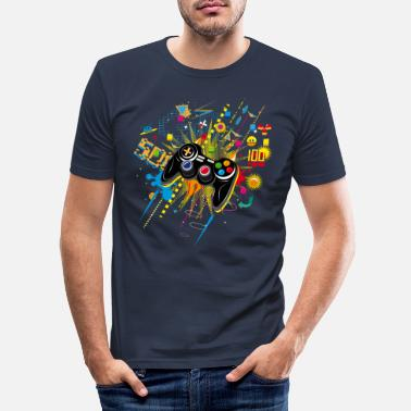 Gamepad Gamepad - Slim fit T-skjorte for menn