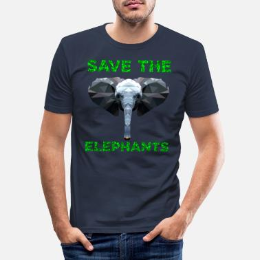 Elephant Save the Elephant Animal Welfare Shirt - Mannen slim fit T-shirt