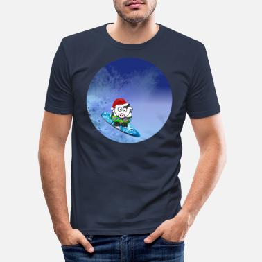 Hawaii Kerstsurfer - Mannen slim fit T-shirt