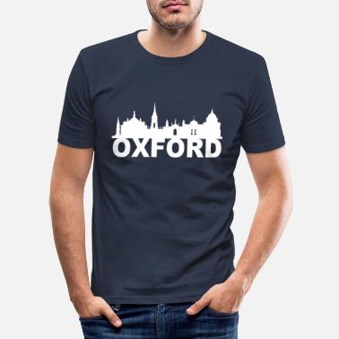 Oxfordshire Oxford England Skyline Geschenk Idee UK - Männer Slim Fit T-Shirt