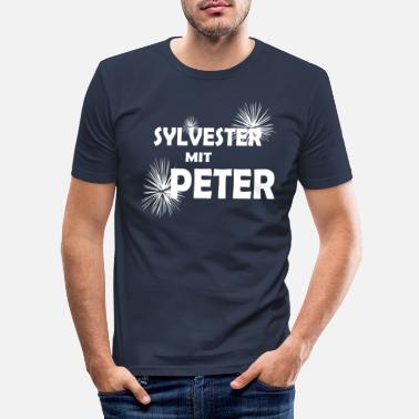 Turn Of The Year Peter Sylvester fireworks turn of the year - Men's Slim Fit T-Shirt