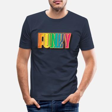 Soul Funky Retro - Männer Slim Fit T-Shirt