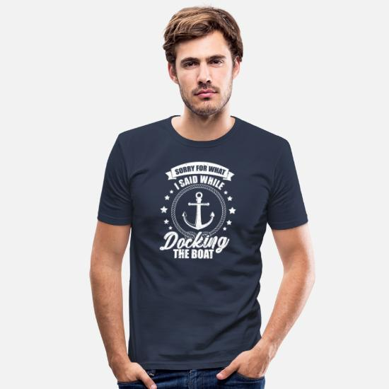 Rant T-Shirts - boat - Men's Slim Fit T-Shirt navy