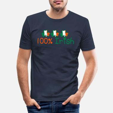 I Want To Marry Irish I Want To Have A Irish Girlfriend Irish Boyfriend Irish Husband Irish Wife Iri ♥ټ☘Kiss Me I'm 100% Irish-Irish Rule☘ټ♥ - Men's Slim Fit T-Shirt