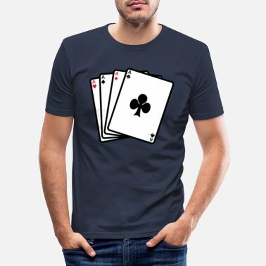 Cards poker cards - Mannen slim fit T-shirt