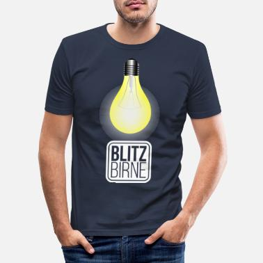 Clever Lightbulb Clever Clever - Mannen slim fit T-shirt