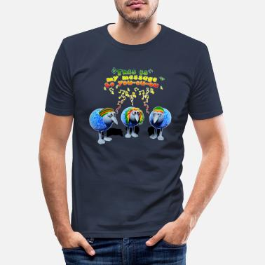 three little RASTA birds - Männer Slim Fit T-Shirt
