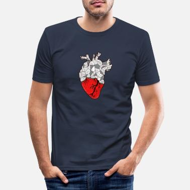 Stone Stone Heart | Heart of stone | Stone heart - Men's Slim Fit T-Shirt