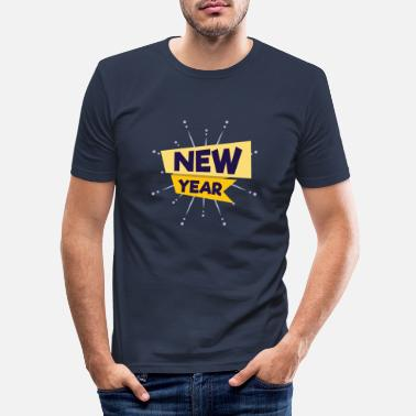 New Year New Year New Year New Year - Men's Slim Fit T-Shirt