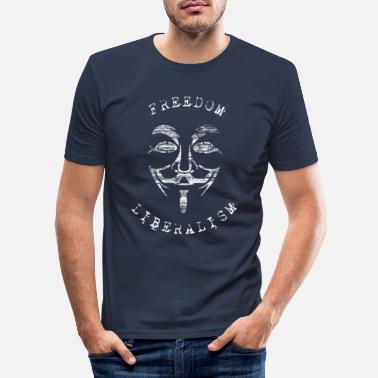 Freedom and Liberalism - Anonymous - Men's Slim Fit T-Shirt