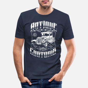 Rockabilly Hot Rod - Antique Customs (white) - Men's Slim Fit T-Shirt