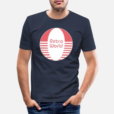 Retro Retro world - Men's Slim Fit T-Shirt