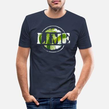 Lime Lime, Lime - Men's Slim Fit T-Shirt