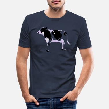 Rind Kuh Rind Cow - Männer Slim Fit T-Shirt
