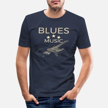 Musicisti blues music bass design per musicisti blues - Maglietta slim fit uomo