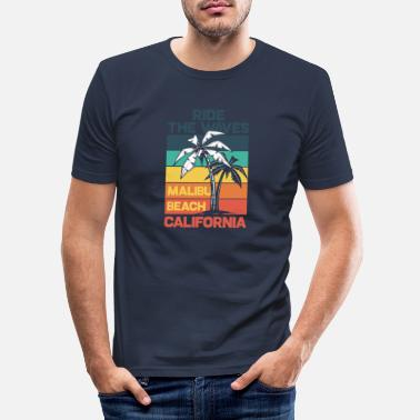Malibu MALIBU BEACH - T-shirt slim fit herr