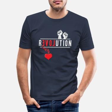 Revolution Revolution - Männer Slim Fit T-Shirt