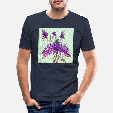Flora Flowers - Men's Slim Fit T-Shirt
