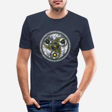 Geometry Consciousness Travel Machine, Sacred Geometry - Men's Slim Fit T-Shirt