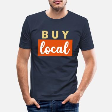 Region Buy local regional region Farmer Hospitality - Men's Slim Fit T-Shirt
