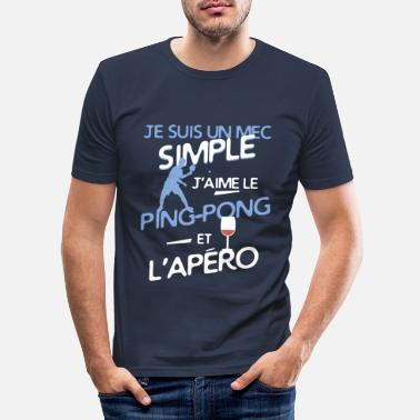Simple Tennis de table - un mec simple - T-shirt moulant Homme