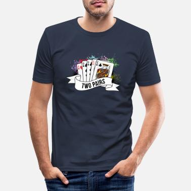 Holdem Poker To par pokerspil - Slim fit T-shirt mænd