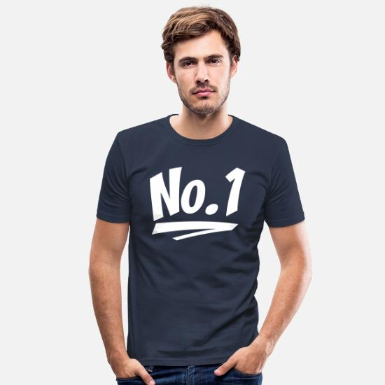 Winner T-Shirts - number one - Men's Slim Fit T-Shirt navy