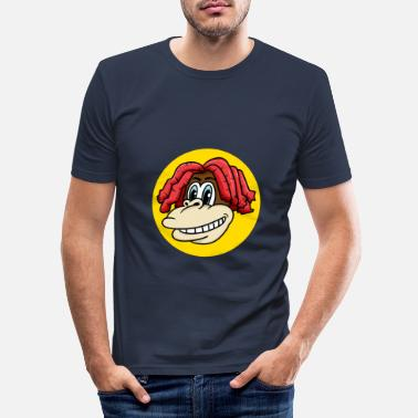 Charade Monkey face with cool hair for monkey fans - Men's Slim Fit T-Shirt