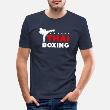Muay Thai Thai boksing Muay Thai - Slim fit T-skjorte for menn