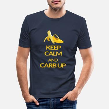 Up KEEP CALM and CARB UP - Männer Slim Fit T-Shirt