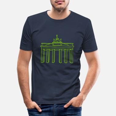 Tor Brandenburger Tor Berlin - Männer Slim Fit T-Shirt
