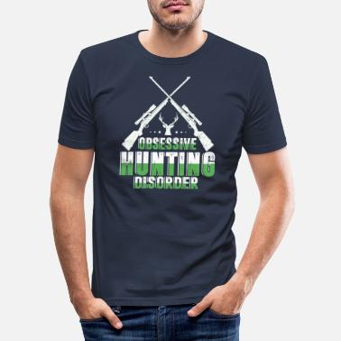 Obsessiv jaktstörning Funny Hunter - T-shirt slim fit herr