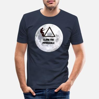 Mountain Climbing Climbing: Climb The Impossible - Men's Slim Fit T-Shirt