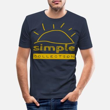 Palmbomen Simple Collection - zomer / trend / cool / goud - Mannen slim fit T-shirt