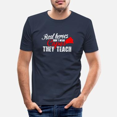 Teaching teach hero teach - Men's Slim Fit T-Shirt