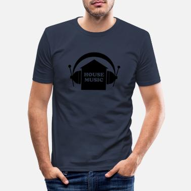 House Music House Music - Slim fit T-skjorte for menn